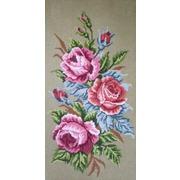 """Канва с нанесенным рисунком Gobelin-L """"Розы"""""""
