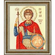 """Набор для вышивания бисером Золотое Руно """"Икона Святого Великомученика Георгия Победоносца"""""""