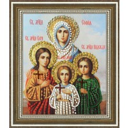 """Набор для вышивания бисером Золотое Руно """"Икона Святых Мучениц Веры Надежды Любви и матери их Софии"""""""