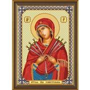 """Набор для вышивания бисером Nova sloboda """"Богородица «Семистрельная»"""""""