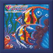 """Набор для выкладывания мозаики Алмазная живопись """"Обитатели рифа"""""""