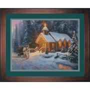 """Набор для вышивания крестом Candamar Designs """"Рождественская часовня"""""""