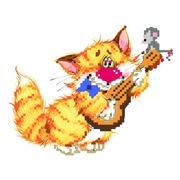 """Набор для вышивания бисером Матрёнин посад """"Без кота - жизнь не та! Музыкант"""""""