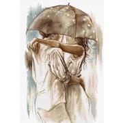 """Набор для вышивания крестом Luca-S """"Под зонтом"""""""