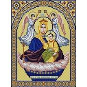 """Ткань с рисунком для вышивки бисером Конёк """"Богородица Живоносный источник"""""""