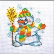 """Набор для вышивания бисером Паутинка """"Снеговичок"""""""
