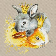 """Набор для вышивания крестом Luca-S """"Кролики"""""""