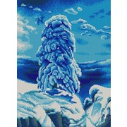 """Ткань с рисунком для вышивки бисером Конёк """"На севере диком"""""""