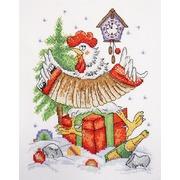 """Набор для вышивания крестом Марья искусница """"Новогоднее кукареку"""""""