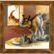 """Набор для вышивания крестом Риолис """"Козленок и котята"""""""