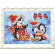"""Набор для вышивания бисером Радуга бисера (Кроше) """"Пингвины"""""""