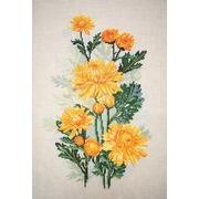 """Набор для вышивания крестом Марья искусница """"Желтые хризантемы"""""""