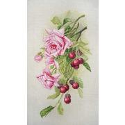 """Набор для вышивания крестом Марья искусница """"Розы и вишня"""""""