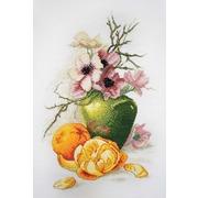 """Набор для вышивания крестом Марья искусница """"Анемоны и апельсины"""""""