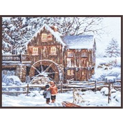 """Набор для вышивания крестом Палитра """"Мельница в снегу"""""""