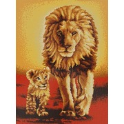 """Ткань с рисунком для вышивки бисером Конёк """"Король лев"""""""