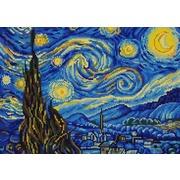 """Канва/ткань с нанесенным рисунком Конёк """"Звездная ночь"""""""