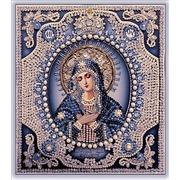 """Набор для вышивания хрустальными бусинами Образа в каменьях """"Богородица Умиление (натуральный жемчуг)"""""""
