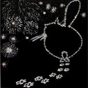 """Набор для вышивания хрустальными бусинами Образа в каменьях """"Ура!!! Я буду Мамой"""""""