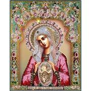 """Набор для вышивания хрустальными бусинами Образа в каменьях """"Богородица Помощница в родах"""""""