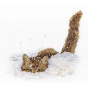 """Набор для вышивания крестом М.П. Студия """"Кот в снегу"""""""