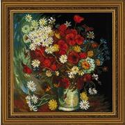 """Набор для вышивания крестом Риолис """"Ваза с маками, васильками и хризантемами (В. Ван Гог)"""""""