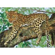 """Канва с нанесенным рисунком Grafitec """"Ленивый леопард"""""""