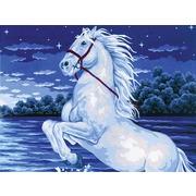 """Канва с нанесенным рисунком Grafitec """"Волшебный конь"""""""