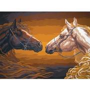 """Канва/ткань с нанесенным рисунком Grafitec """"Пара лошадей"""""""