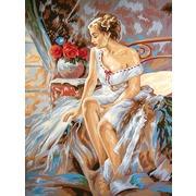"Канва/ткань с нанесенным рисунком Grafitec ""Грациозная дама"""