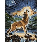 """Канва/ткань с нанесенным рисунком Grafitec """"Воющий волк"""""""
