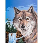 """Канва/ткань с нанесенным рисунком Grafitec """"Портрет волка"""""""