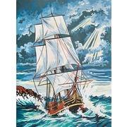 """Канва/ткань с нанесенным рисунком Grafitec """"Бушующее море"""""""