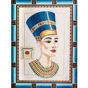 "Канва/ткань с нанесенным рисунком Grafitec ""Королева Нефертити"""