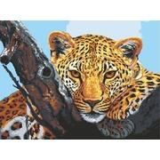 """Канва/ткань с нанесенным рисунком Grafitec """"Взгляд леопарда"""""""