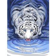 """Канва/ткань с нанесенным рисунком Grafitec """"Белый тигр"""""""