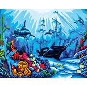 """Канва/ткань с нанесенным рисунком Grafitec """"Подводный мир"""""""