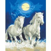 """Канва/ткань с нанесенным рисунком Grafitec """"Бегущие лошади"""""""