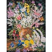 """Канва/ткань с нанесенным рисунком Grafitec """"Дикие цветы 1"""""""