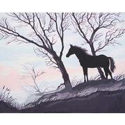 "Канва с нанесенным рисунком Grafitec ""Силуэт коня"""