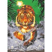 """Канва/ткань с нанесенным рисунком Grafitec """"Тигр в воде"""""""