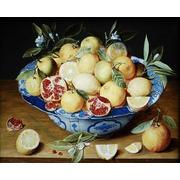 """Канва/ткань с нанесенным рисунком Grafitec """"Натюрморт с лимонами, апельсинами и гранатами"""""""
