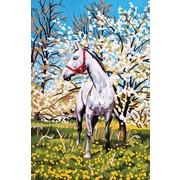 """Канва/ткань с нанесенным рисунком Grafitec """"Лошадь в саду"""""""