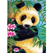 "Канва/ткань с нанесенным рисунком Grafitec ""Панда"""