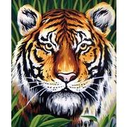 """Канва/ткань с нанесенным рисунком Grafitec """"Портрет тигра"""""""