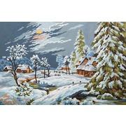 """Канва/ткань с нанесенным рисунком Grafitec """"Снежный пейзаж"""""""