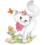 """Канва с нанесенным рисунком Grafitec """"Милый котенок"""""""