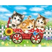 "Канва с нанесенным рисунком Grafitec ""Котята с подсолнухом"""