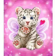 "Канва/ткань с нанесенным рисунком Grafitec ""Поцелуй тигренка"""