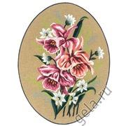 """Канва с нанесенным рисунком Diamant """"Розовые цветы"""""""
